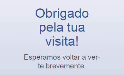 OBRIGADA PELA VISITA