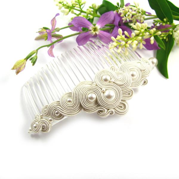 Perłowa biżuteria ślubna sutasz