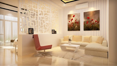 Nhà chung cư đẹp với vách ngăn sáng tạo