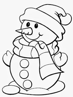 Dibujos de Muñecos de Nieve para Colorear, parte 4