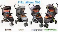 Kereta Dorong Bayi PLIKO 568 MILANO Roda Tiga