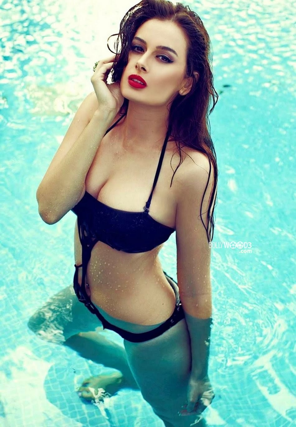 Evelyn Sharma black wet bikini