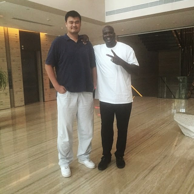 shaquille on neal with yao ming giants