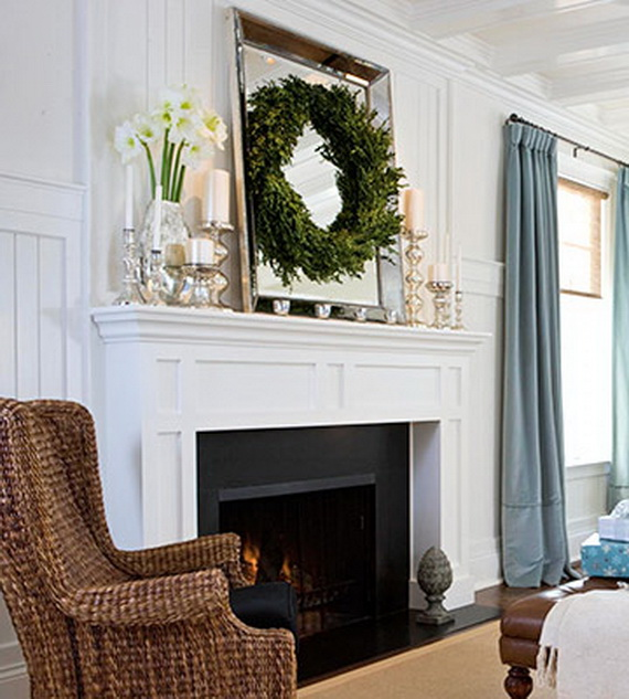 The Decorista-Domestic Bliss: Holiday Fireplace decorating...