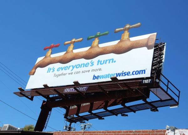 It's everyone's turn taps billboard