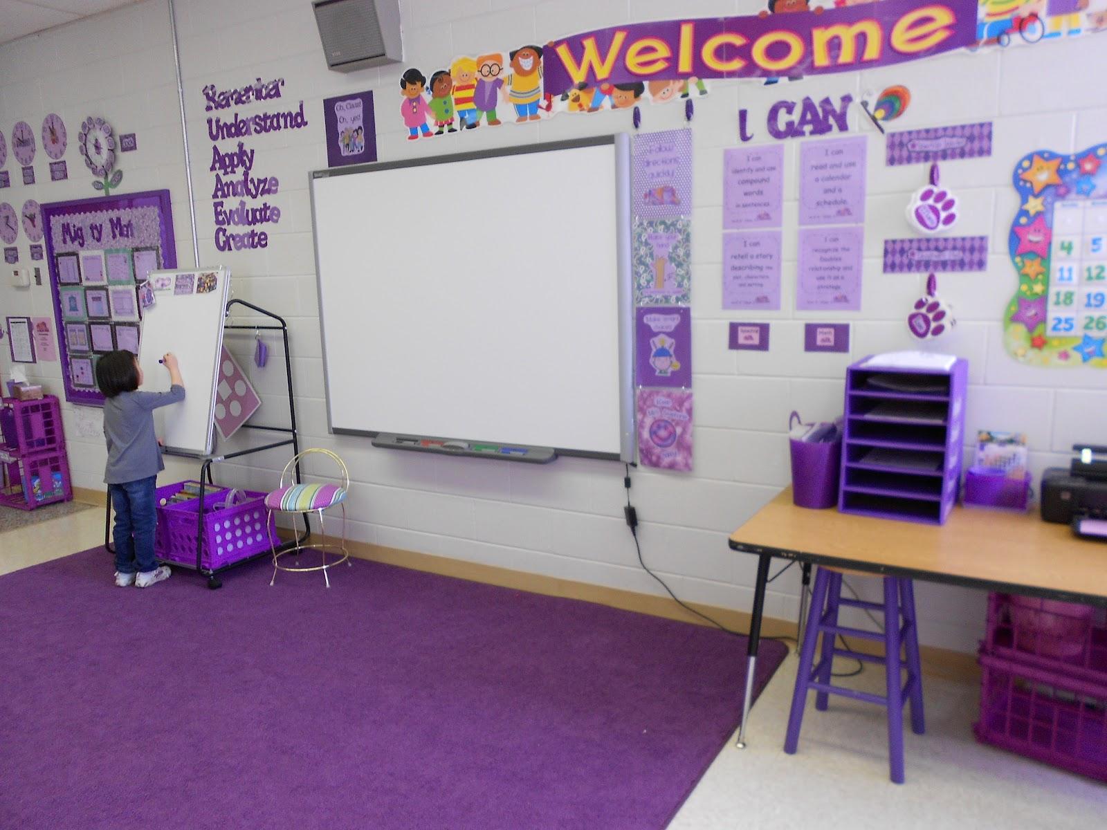 Elephant Classroom Decor ~ Prayers purple elephants chalkboards out clean walls in