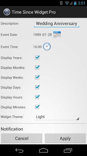 El blog de asturel tiempo transcurrido widget para android for Widget tiempo android