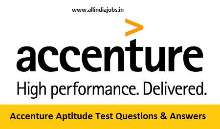 Accenture Aptitude Test