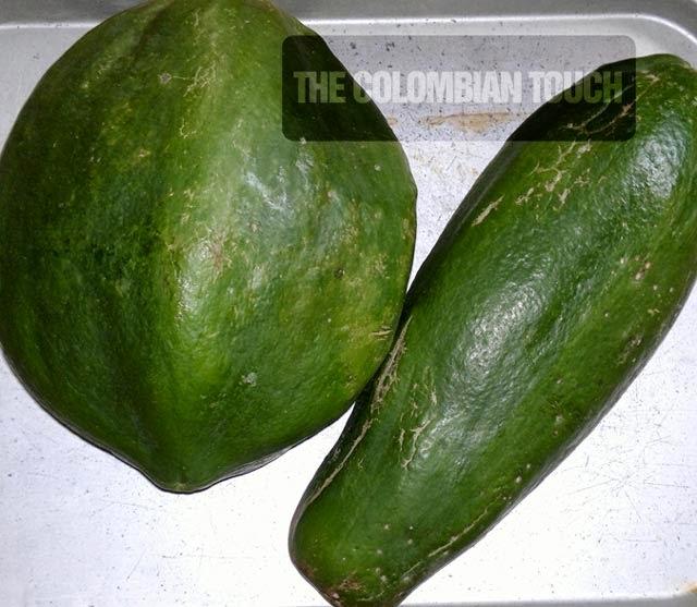 dulce papaya verde  dulce de lechosa