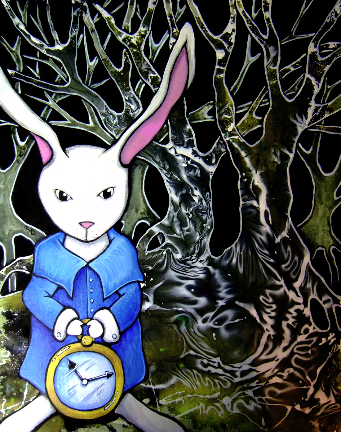 White rabbit painting - photo#15