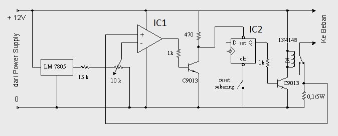 12vdc electronic fuse circuit