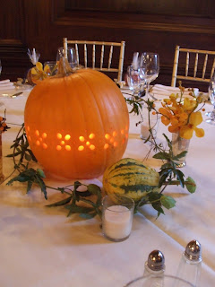 Fall Wedding Centerpieces Pumpkin With Lighting