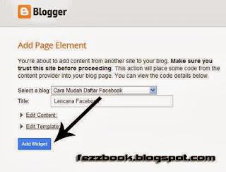 Cara Membuat Widget Status Facebook Di Blog