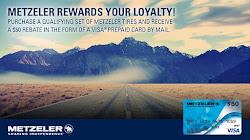 "METZELER ""FAST FIFTY"" VISA® PREPAID CARD"