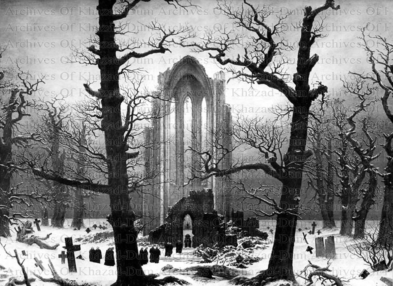 Archives of Khazad-Dum: Caspar David Friedrich - Monastery