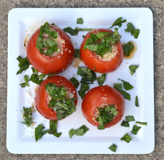 Parmesan Basil Grilled Tomatoes