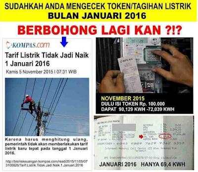 tarif listrik pln 2016