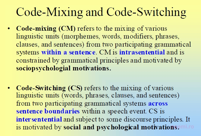 Code Switching Essay - 2809 Words - StudyMode