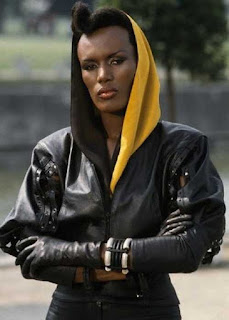 grace jones a mayday in james bond - a view to a kill