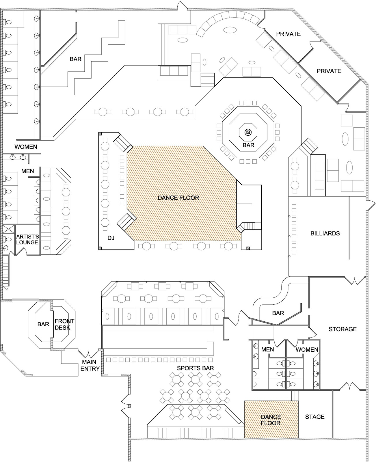 Nightclub Floor Plan Design Joy Studio Design Gallery