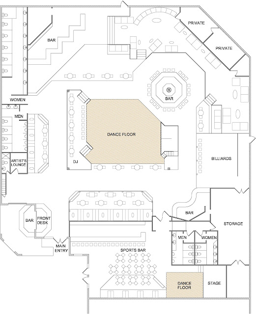Bar And Nightclub Floor Plans1
