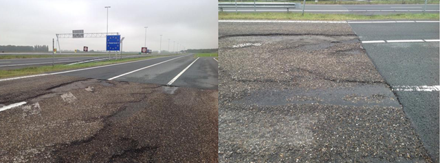 The Belgian road system is one of the most heavily congested in the world, with traffic from other European countries using it heavily. This has led to some Belgian roads literally being worn to the ground.