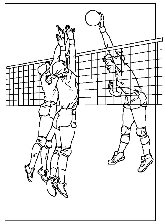 Coloring Activity Pages Volleyball