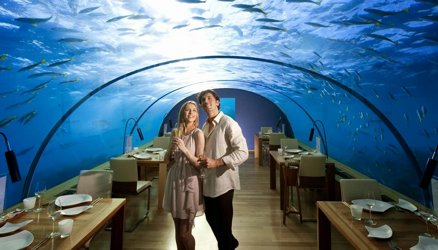 The hilton resort in maldives is one of the best honeymoon for Great places to go for honeymoon