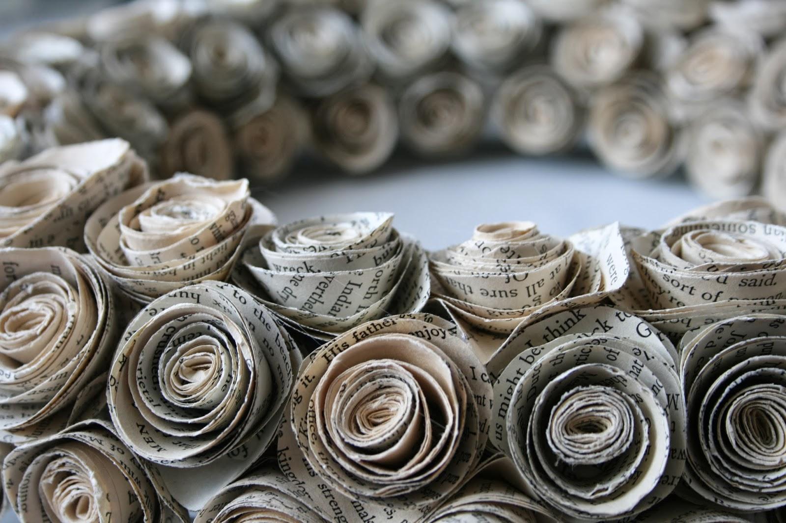 Как сделать розочки из газет