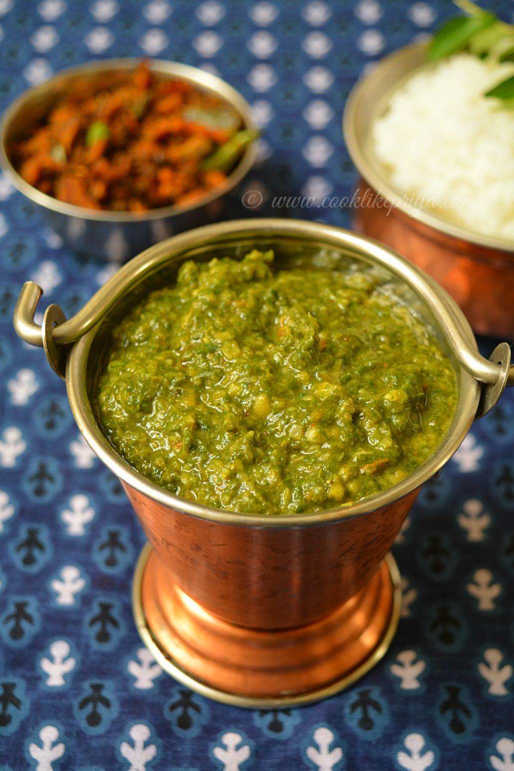 Tamil Brahmin Style Keerai Recipe