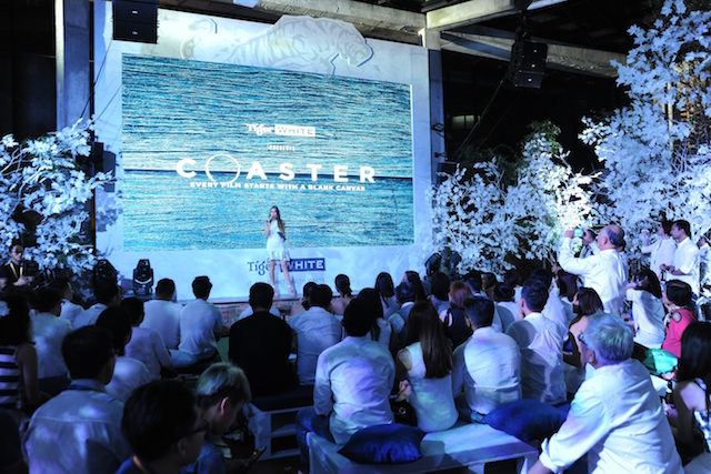 Emcee Nadia Heng welcomes guests to the exclusive screening of Coaster held at Glasshouse at Seputeh on Dec 19.