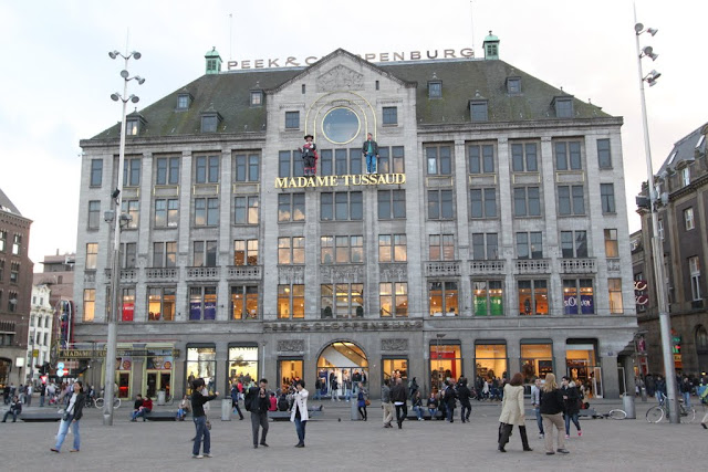 Madame Tussaud in the downtown of Amsterdam, Netherlands