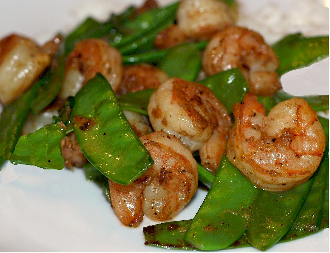 firm tofu with snow peas and bean sprouts shiitake shrimp and snow pea ...