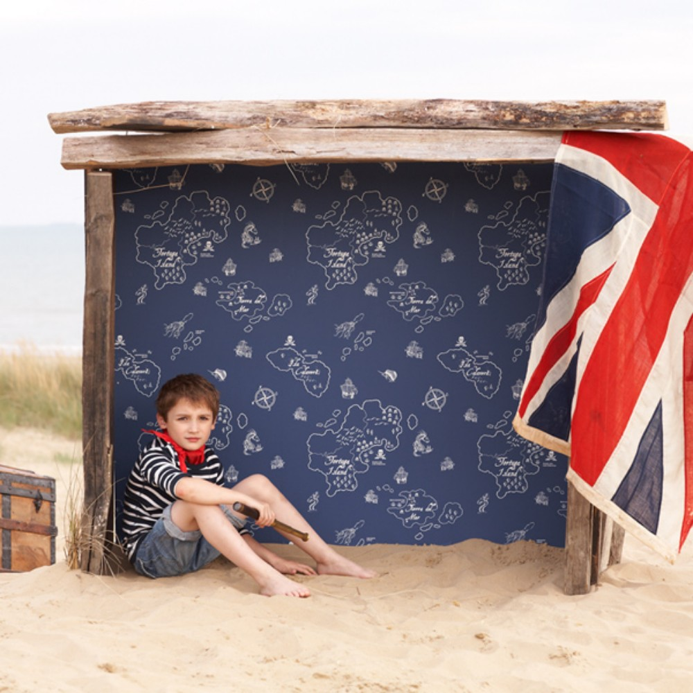 Hibou Home | Childrens Wallpaper | Pirate Seas | Marine