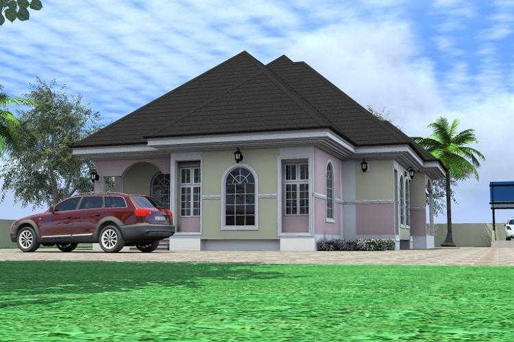 Residential homes and public designs 4 bedroom bungalow Bungalo houses