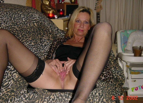 Wife in stockings spread pussy opinion you