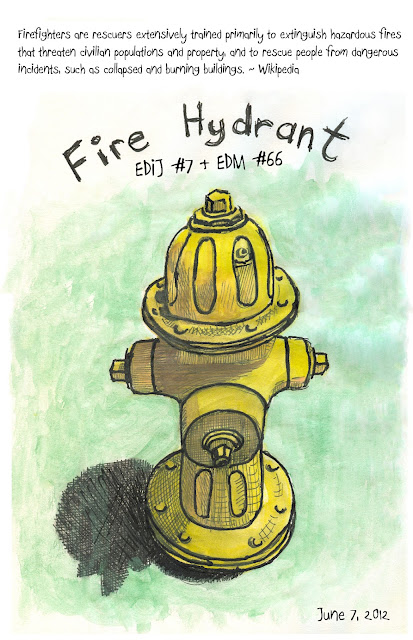 Fire Hydrant drawing by © Ana Tirolese