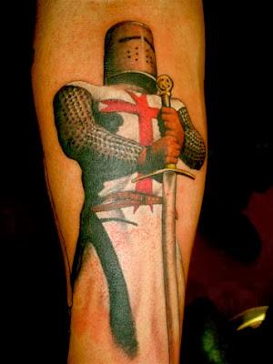 Color Templar Crusade Tattoo