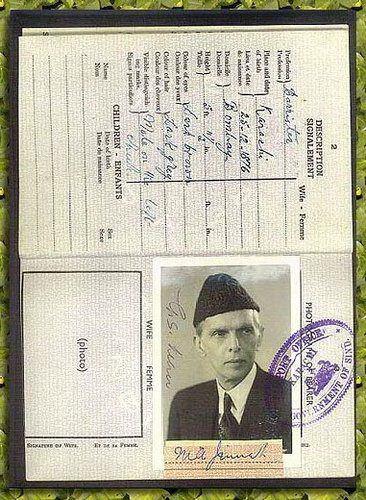 Passport of Muhammad Ali Jinnah