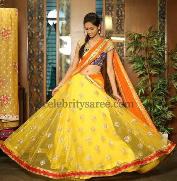 Exclusive Half Sari by Bhargavi
