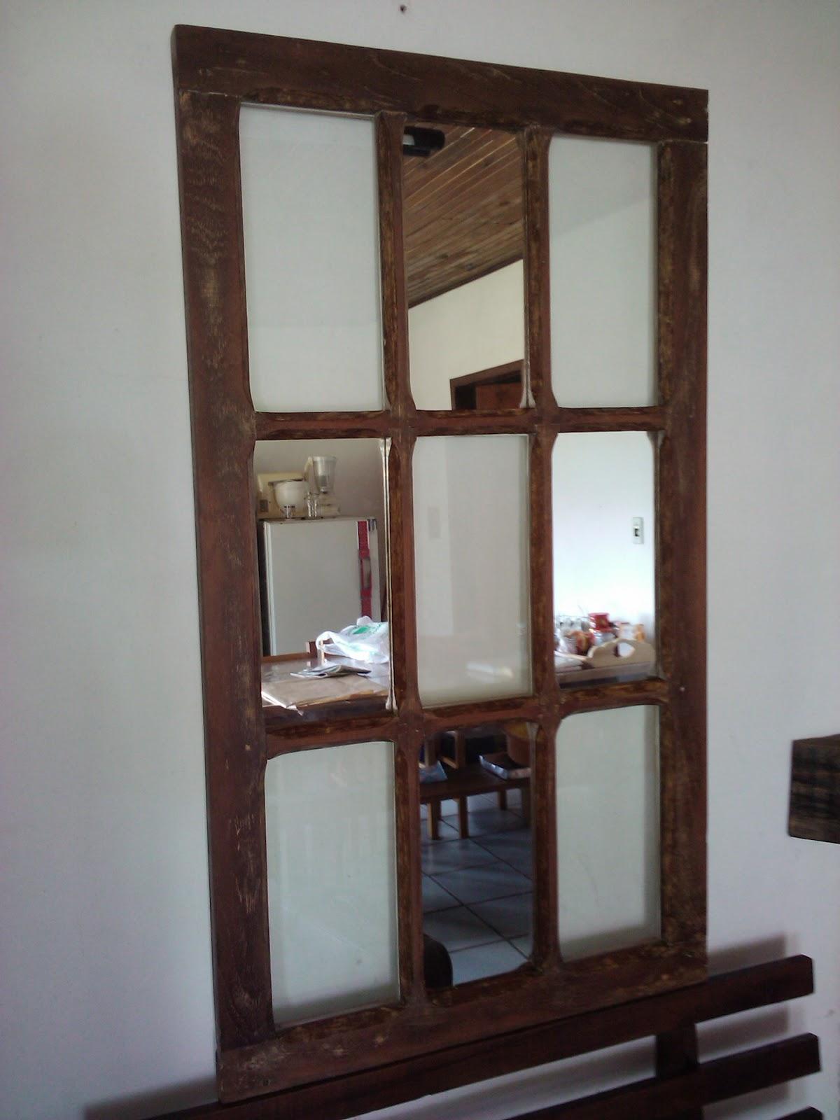 Artes do Dinho: Porta retrato de janela de demolição #5E4234 1200x1600 Balcao Banheiro Artesanal