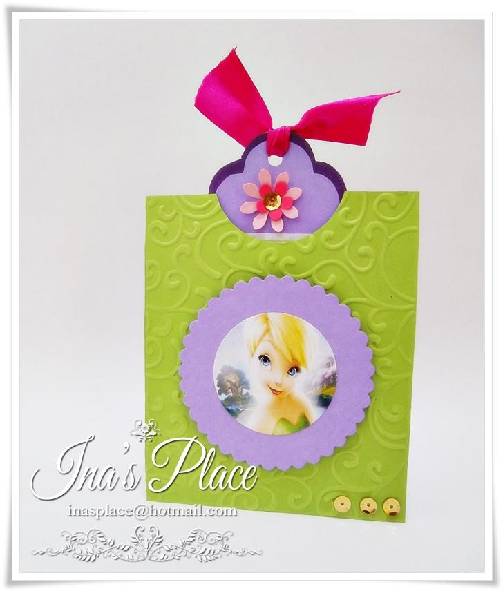invitaciones tarjetas hechas a mano tinkerbell