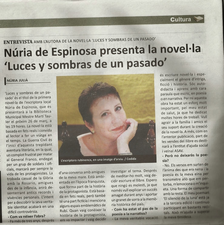 Entrevista en el Diario de Rubí