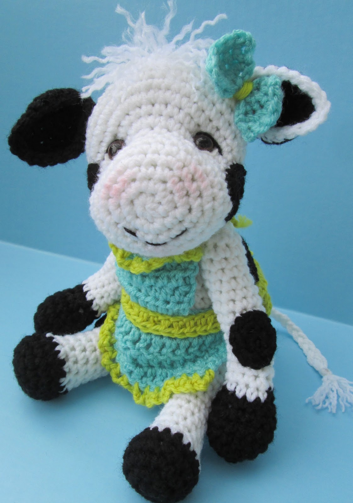 Free Crochet Pattern For Cow Hat : Crochet Cow Hat A cow at last