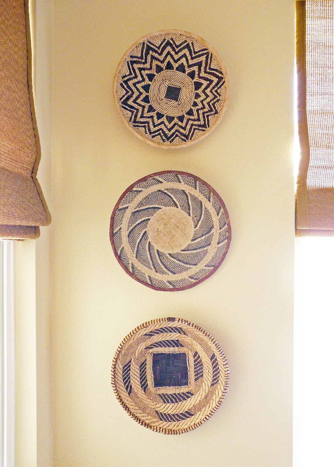 Home african basket wall decor for Wall decoration items