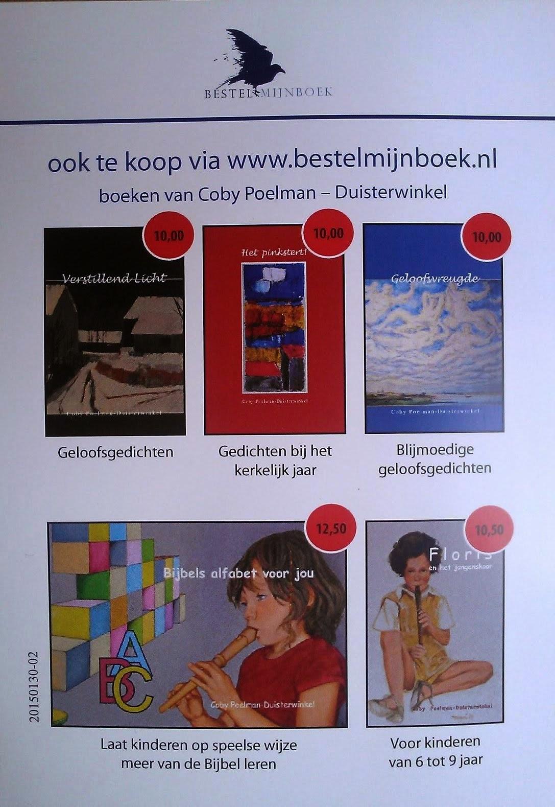 Verkrijgbaar via cobytjeert@live.nl en de boekhandel, voor een preview kunt u de boeken aanklikken.