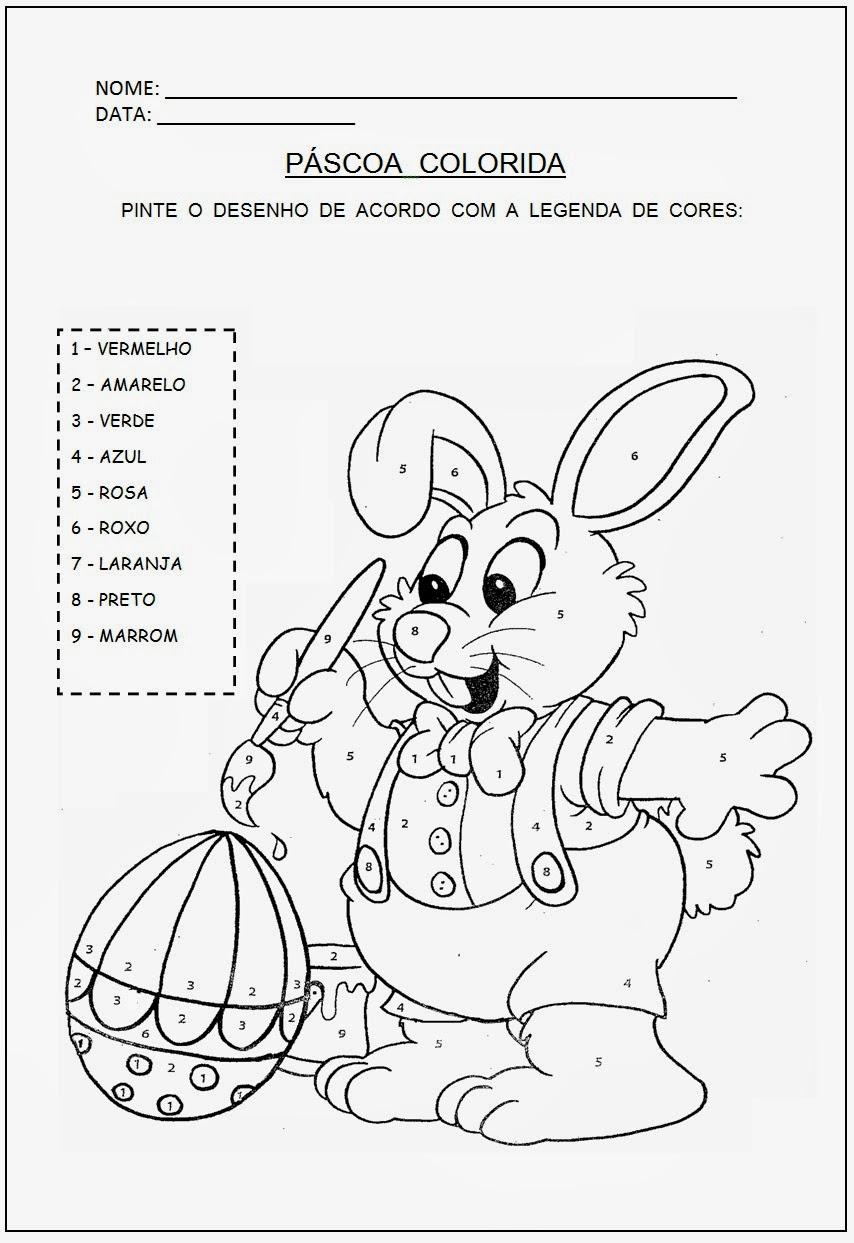 Atividades de Páscoa - Educaço Infantil - Coelho para colorir