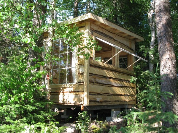 A gorgeous rustic micro cabin tiny house Tiny cabin
