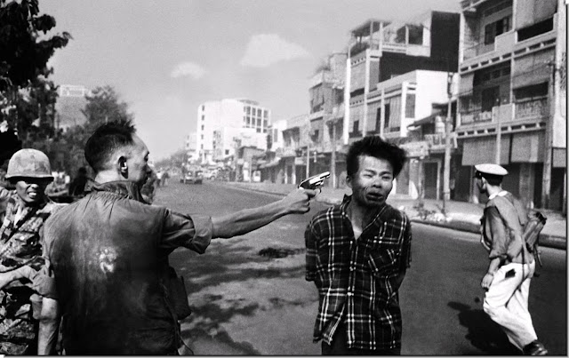 February 1, 1968 Saigon Police chief Nguyen Ngoc Loan shoots  Vietcong i