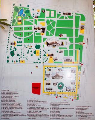 Plano del Palacio Real de Phnom Penh en Camboya